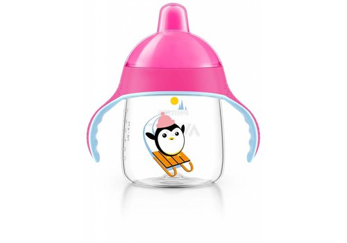 Avent Avent Leak Proof Drink Cup Pinguin 260 ml Pink