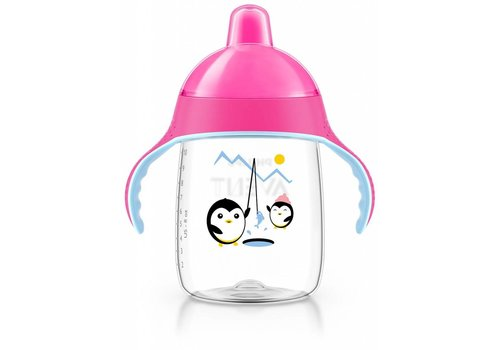 Avent Avent Leak Proof Pinguin Drink Cup 340 ml Pink