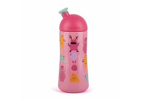 Suavinex Suavinex Feeding Bottle Sporty Booo! Pink