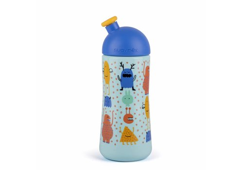Suavinex Suavinex Feeding Bottle Sporty Booo! Blue