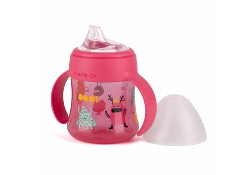 Suavinex Suavinex Feeding Bottle Booo! 150 ml With Handles Pink