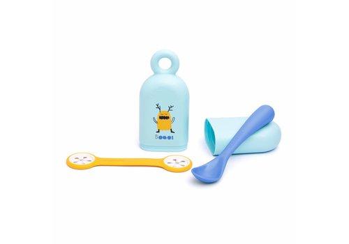 Suavinex Suavinex Spoon + Box + BIB Clip Booo! Blue