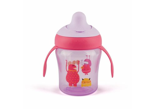 Suavinex Suavinex Anti-Leak Drinking Cup Booo! Purple