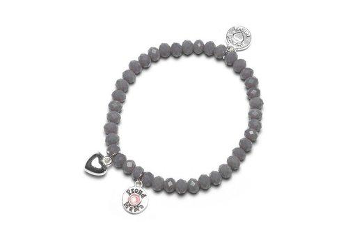 Proud Mama Proud Mama Bracelet Charm Grey Pink