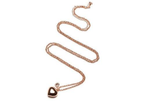Proud Mama Proud Mama Necklace Baby Bell Jasseron Pink Heart