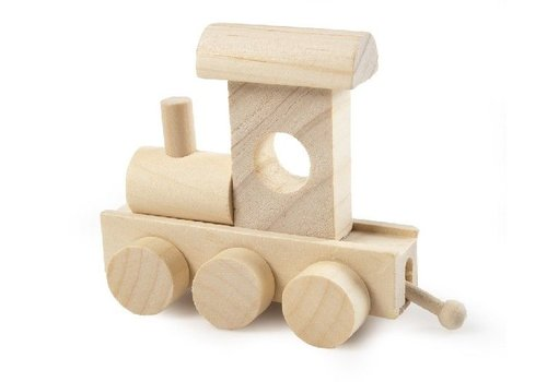 Bartok Bartok Train Letter Locomotive Natural