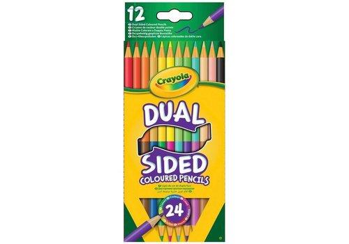 Crayola Crayola 12 Duo Colored Pencils 24 Colors