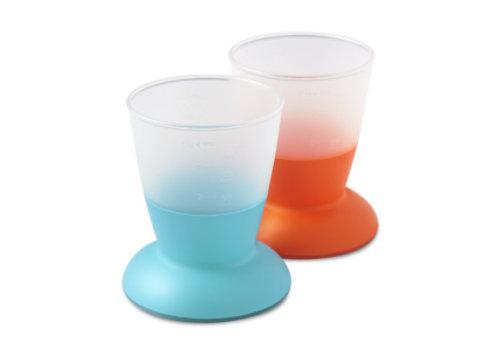 BabyBjörn Babybjorn Drink Cup Duo Orange - Turquoise