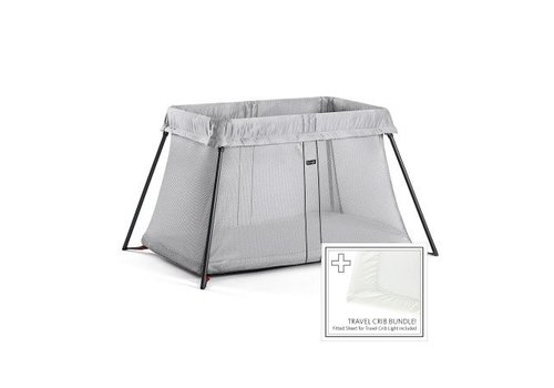 BabyBjörn Babybjorn Travel Cot With Mattress Cover Light Silver