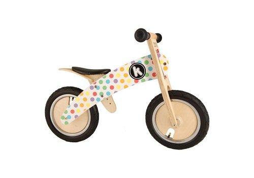 KiddiMoto KiddiMoto Balance Bike Kurve Pastel Dotty