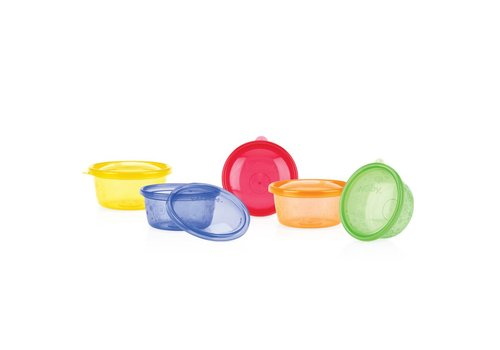 Nuby Nuby Reusable Bowls 6 Pieces + Cover 300 ml