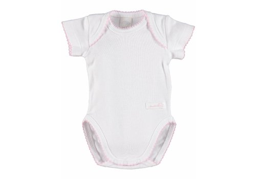 Laranjinha Laranjinha Bodysuit White With Pink Detail