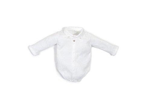 Laranjinha Laranjinha Bodysuit Shirt Collar White