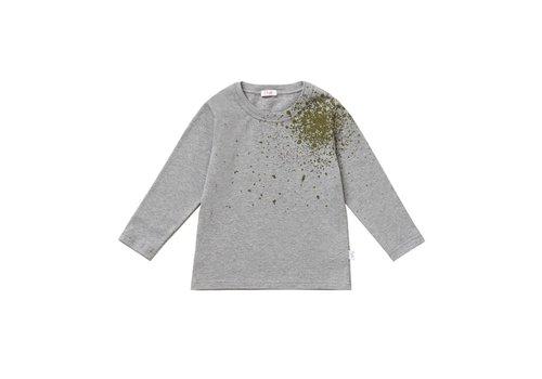 Il Gufo Il Gufo T-Shirt Grey With Green Splash