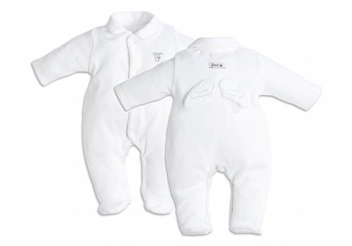 My First Collection First Pyjamas Angel Wings Velour White