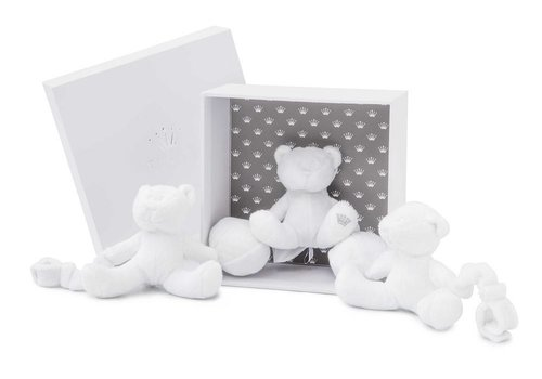 My First Collection First Charly Mobile 3 Teddy Teddy Bears Fur + Panal White
