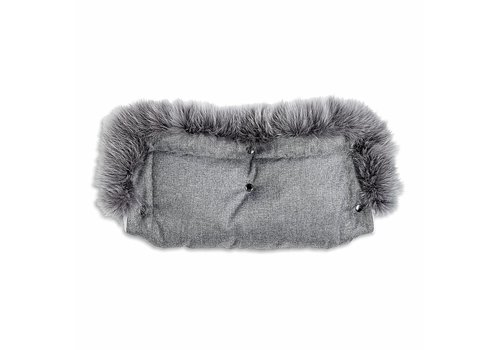 My First Collection First Winter Handmuff With Fur Grey