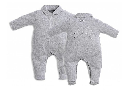 My First Collection First Pyjamas Grey With Angel Wings