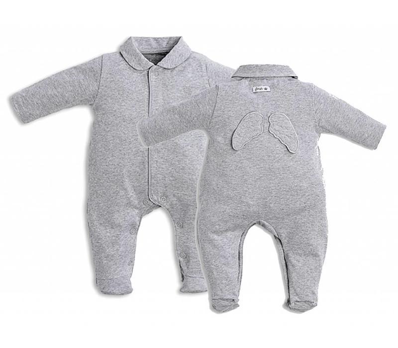 First Pyjama Grijs Met Engelenvleugeltjes