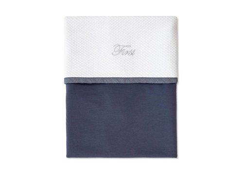 My First Collection First Blanket Lulu 80 x 70 cm White - Denim