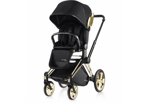 Cybex Cybex Priam Luxury Seat + Frame Js Wings Black Jeremy Scott