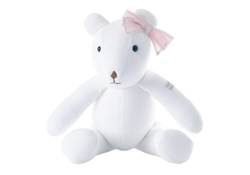 Theophile & Patachou Theophile & Patachou Teddy Design White + Pink Bow
