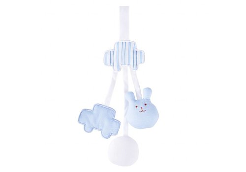 Theophile & Patachou Theophile & Patachou Rattle Soother Clip Bear Indigo