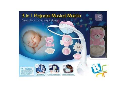 B-Kids B-Kids Muzikale Projector Mobiel 3 in 1 Roze