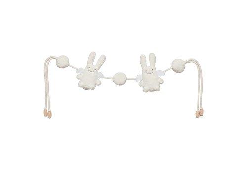 Trousselier Trousselier Rattles Angel Rabbit With Cords Ivory