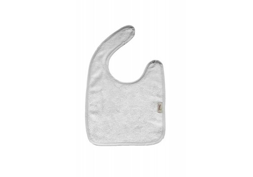 Timboo Timboo Bib Large 26 x 38 With Push Button Silver Gray