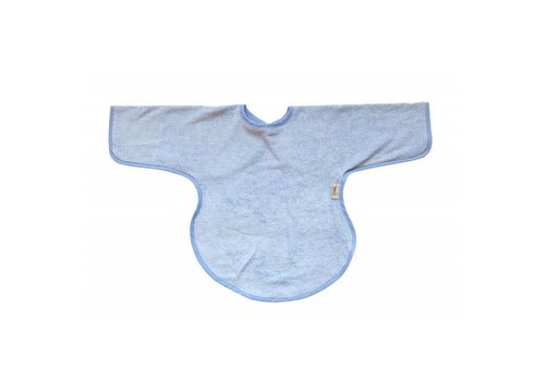 Timboo Timboo Bib With Sleeves Soft Blue