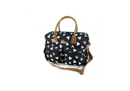 Kidzroom Kidzroom Nursery Bag With Hearts Black-White