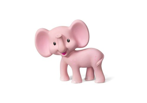 Infantino Infantino Squeeze And Bite Toy Elephant Pink