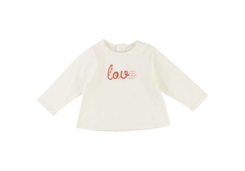 Chloe Chloe T-Shirt Off-white 'Love'