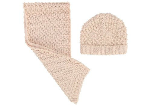 Chloe Chloe Hat And Scarf Pink