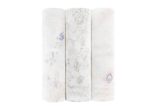Aden & Anais Aden & Anais Swaddles Silky Soft Featherlight 3-Pack