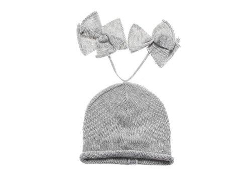 Nanan Nanan Hat With Bows Grey