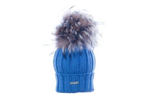 Il Trenino Il Trenino Hat Blue With Big Pom Pom