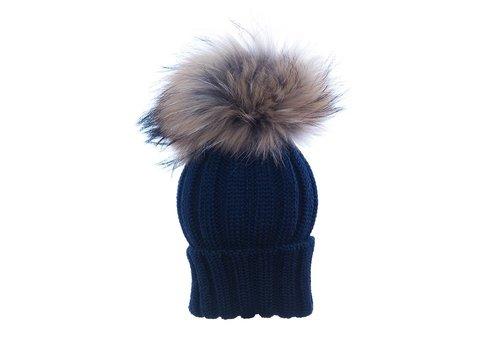 Catya Catya Hat With Pom Pom Navy