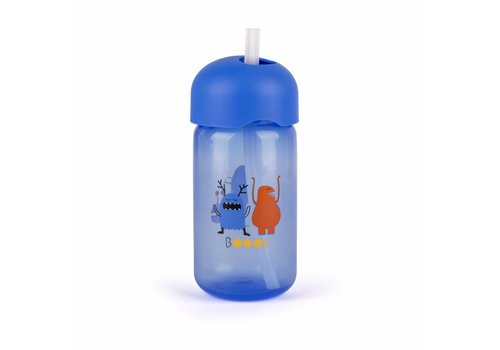 Suavinex Suavinex Booo! Drink Cup With Straw Blue