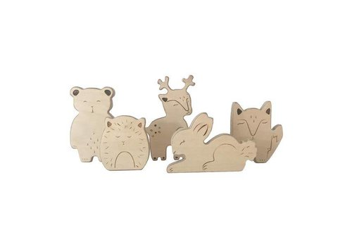 Loullou Loullou Wooden Animals