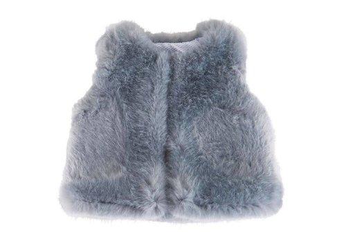 Theophile & Patachou Theophile & Patachou Fur Jacket Without Sleeves Blue
