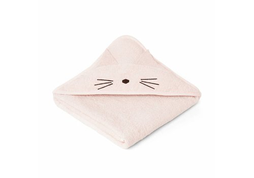 Liewood Liewood Hooded Towel Cat Pink