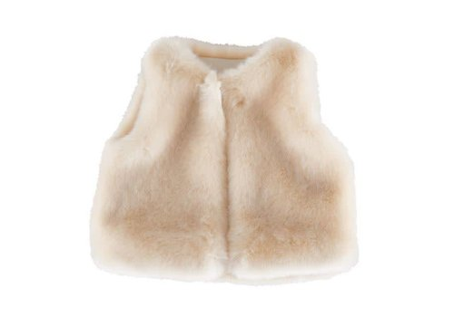 Theophile & Patachou Theophile & Patachou Fur Jacket Without Sleeves Beige