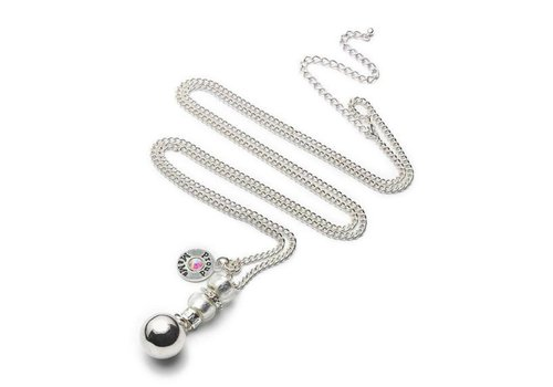Proud Mama Proud Mama Necklace Necklace Baby Bell Deluxe Silvered Round