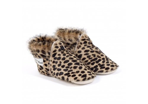 Petit Nord Petit Nord Baby Shoes Calf Leopard