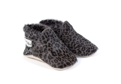 Petit Nord Petit Nord Baby Shoes Calf Grey Panther