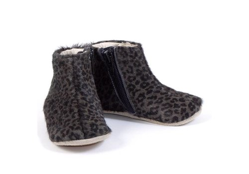 Petit Nord Petit Nord Shoes With Zipper Grey Leopard