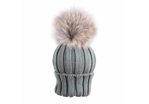 Catya Catya Hat With Pom Pom Kaki