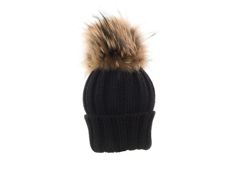 Catya Catya Hat With Pom Pom Black